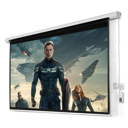 """Picture of 100"""" 16:9 HD Foldable Electric Motorized Projector Screen + Remote"""