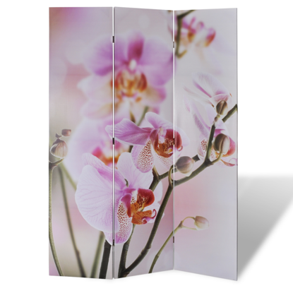 """Picture of 3-Panel Room Divider Folding Double Sided Screen Flower Print 47.2"""" x 70.9"""""""