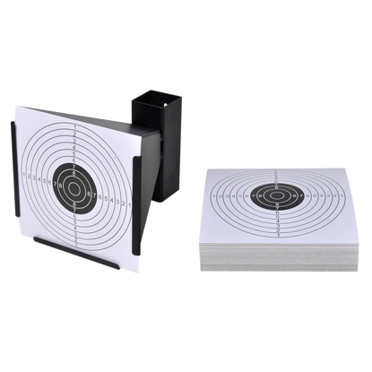 "Picture of 5.5"" Funnel Target Holder Pellet Trap + 100 Paper Targets"
