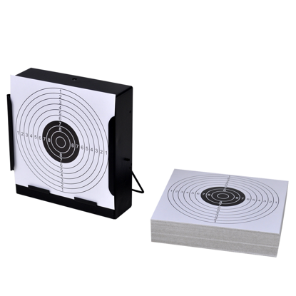"Picture of 5.5"" Square Target Holder Pellet Trap + 100 Paper Targets"
