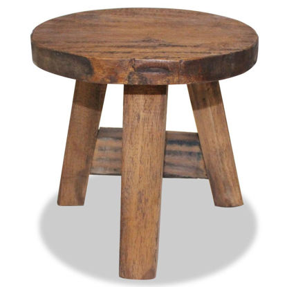 "Picture of 7"" Stool - Solid Reclaimed Wood"