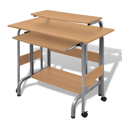 Picture of Adjustable Computer Desk - Brown