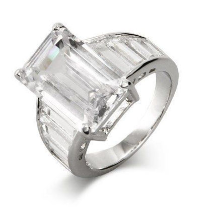 Picture of Angelina Jolie Replica Emerald Table Cut CZ