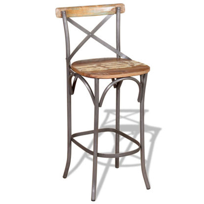 "Picture of Bar Chair Solid Reclaimed Wood 17.7""x17.7""x43.3"""
