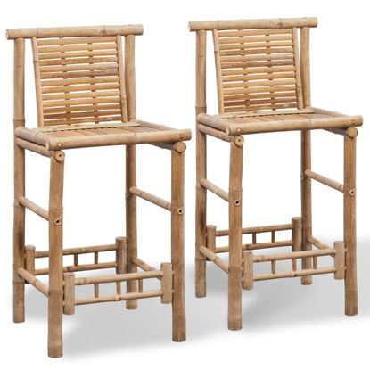 Picture of Bar Stools 2 pcs Bamboo