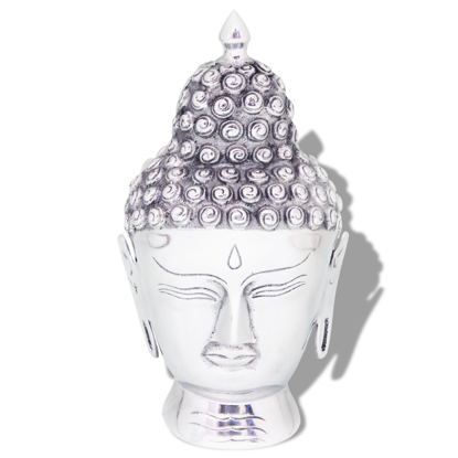 Picture of Buddha Head Decoration Aluminum Silver