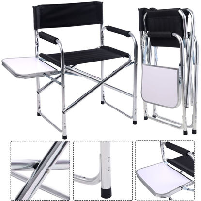 Picture of Camping Aluminum Folding Chair with Side Table