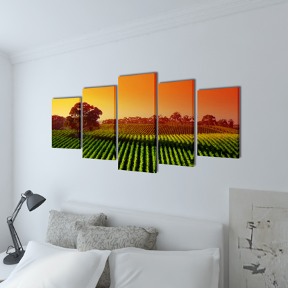 "Picture of Canvas Wall Print Set Fields 39"" x 20"""