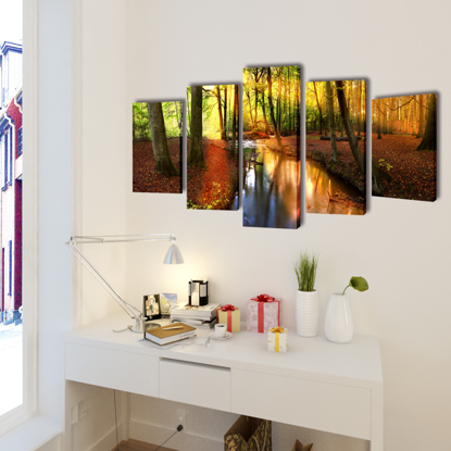 "Picture of Canvas Wall Print Set Forest 39"" x 20"""