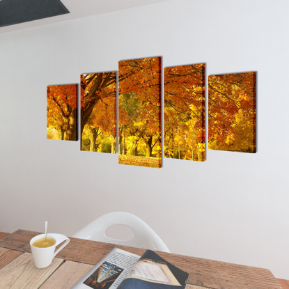 "Picture of Canvas Wall Print Set Maple 39"" x 20"""