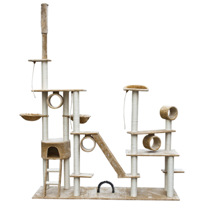 "Picture of Cat Tree Deluxe 90"" - 102"" Beige Plush"