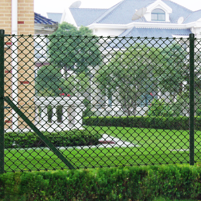 "Picture of Chain Fence 2' 7"" x 82' Green with Posts & All Hardware"