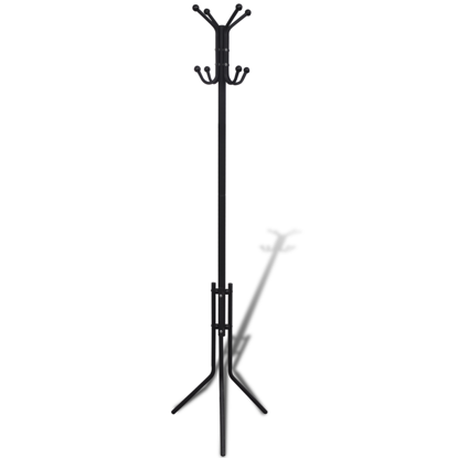 Picture of Coat Rack Hat Stand Organizer Hook Hanger - Metal Black