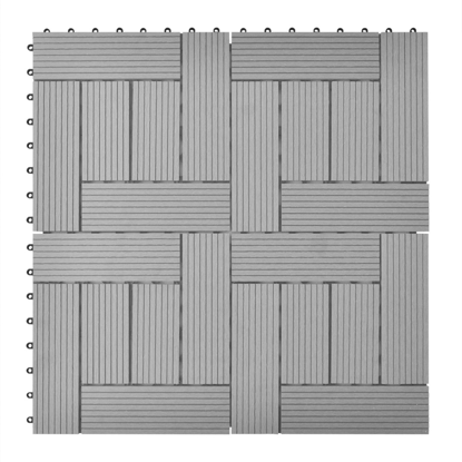 Picture of Decking Tiles WPC 11 ft² - 11 pcs Gray