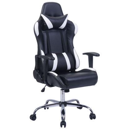 Picture of Desk Office Chair Race - Black and White