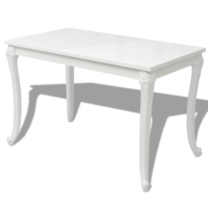 """Picture of Dining Table High Gloss 47"""" - White"""
