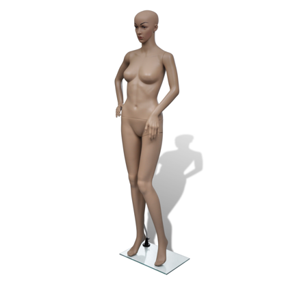 Picture of Female Full Body Mannequin Head Turn Dress Form with Base Display