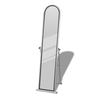 Picture of Floor Mirror Free Standing Full Length Rectangular - Gray