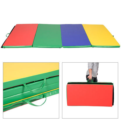"""Picture of Folding Tumbling Gymnastics Mat Multicolor - 4' x 8' x 2"""""""
