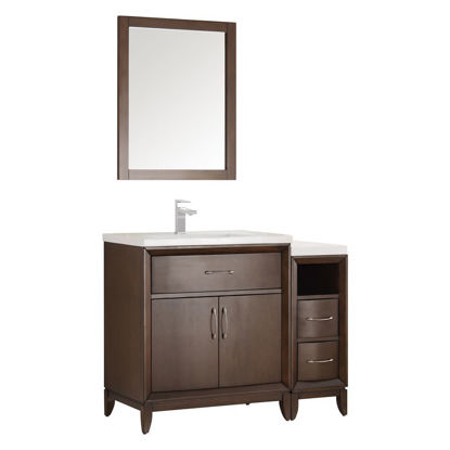 "Picture of Fresca Cambridge 42"" Antique Coffee Traditional Bathroom Vanity w/ Mirror"