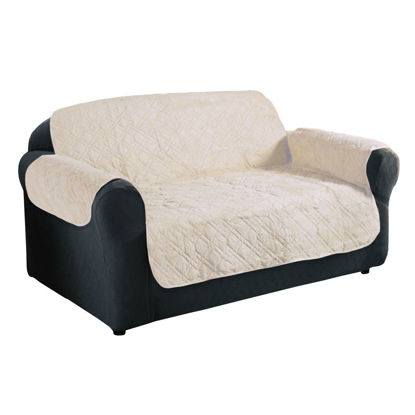 Picture of Furniture Protector Slip Cover Quilted Sofa Chair - 4 Colors 3 Size