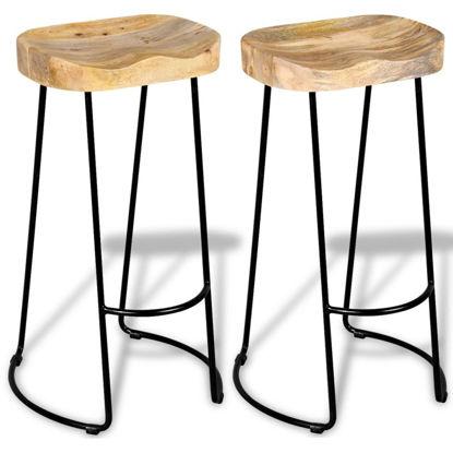 Picture of Gavin Bar Stools 2 pcs Solid Mango Wood