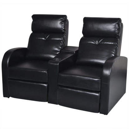 Picture of Home Cinema Recliner Reclining Sofa 2-seat - Black