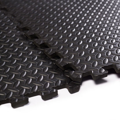 Picture of Interlocking Foam Flooring Tiles Mats EVA 48 Sq Ft Black