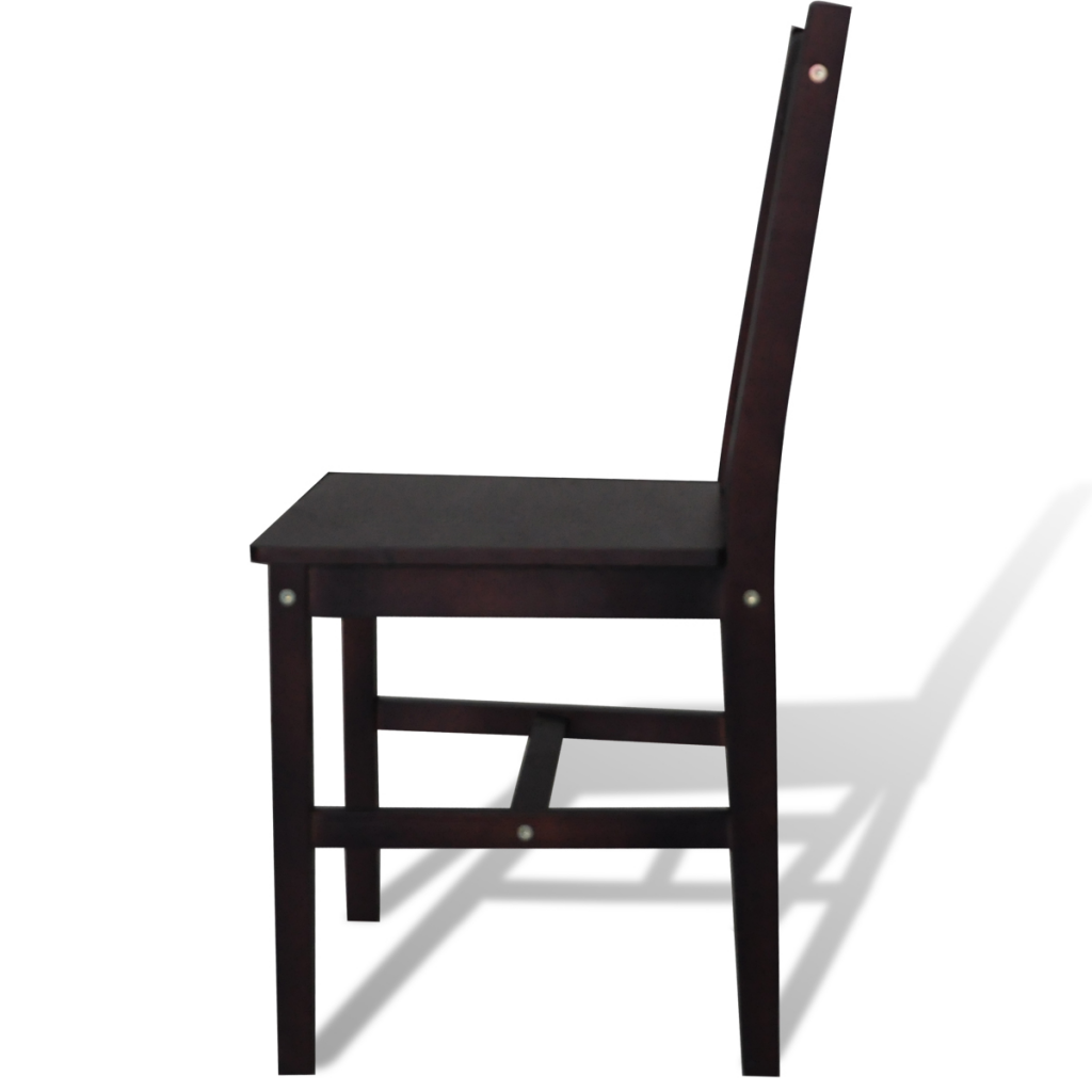 Picture of Kitchen Dining Chair - 6 pcs Brown Wood