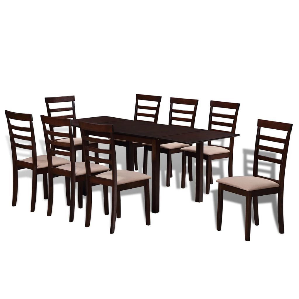 Picture of Kitchen Dining Extending Set 9pc - Brown