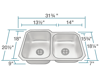 Picture of Kitchen Sink Stainless Steel Offset