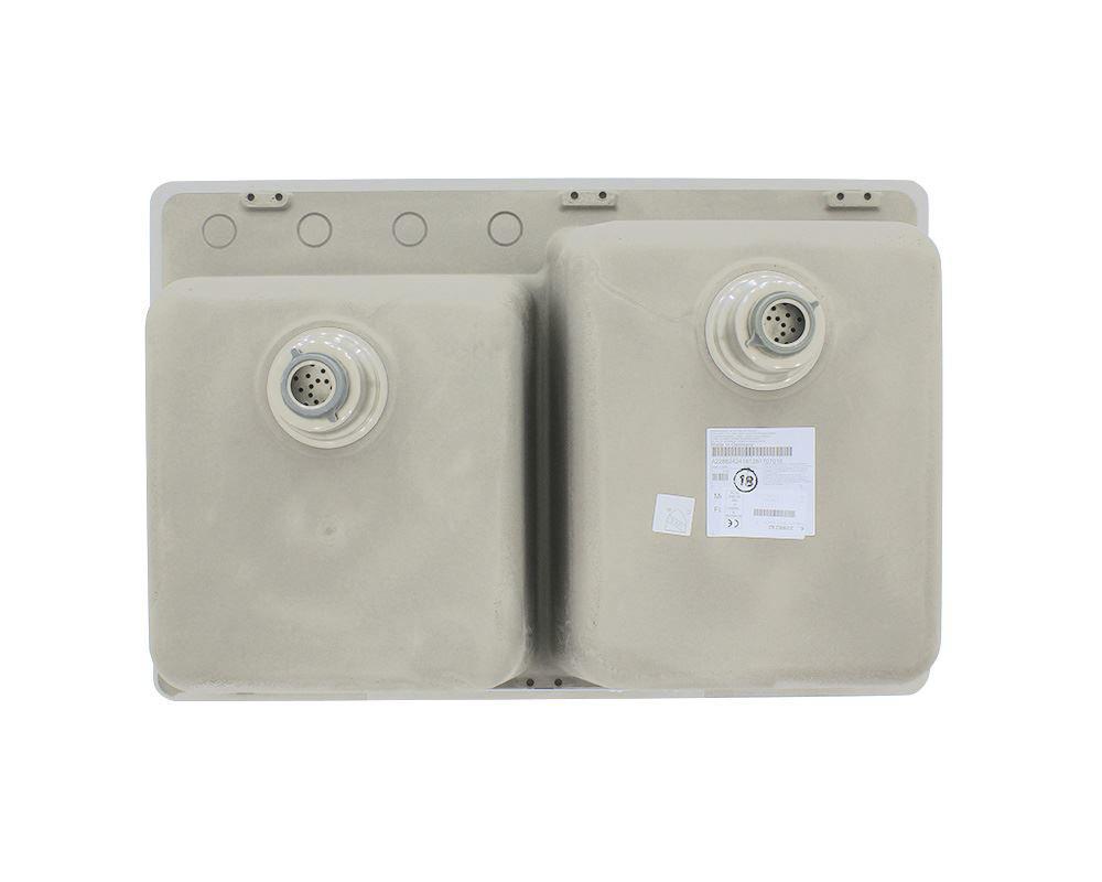 Picture of Kitchen Topmount Sink Double Offset Bowl AstraGranite