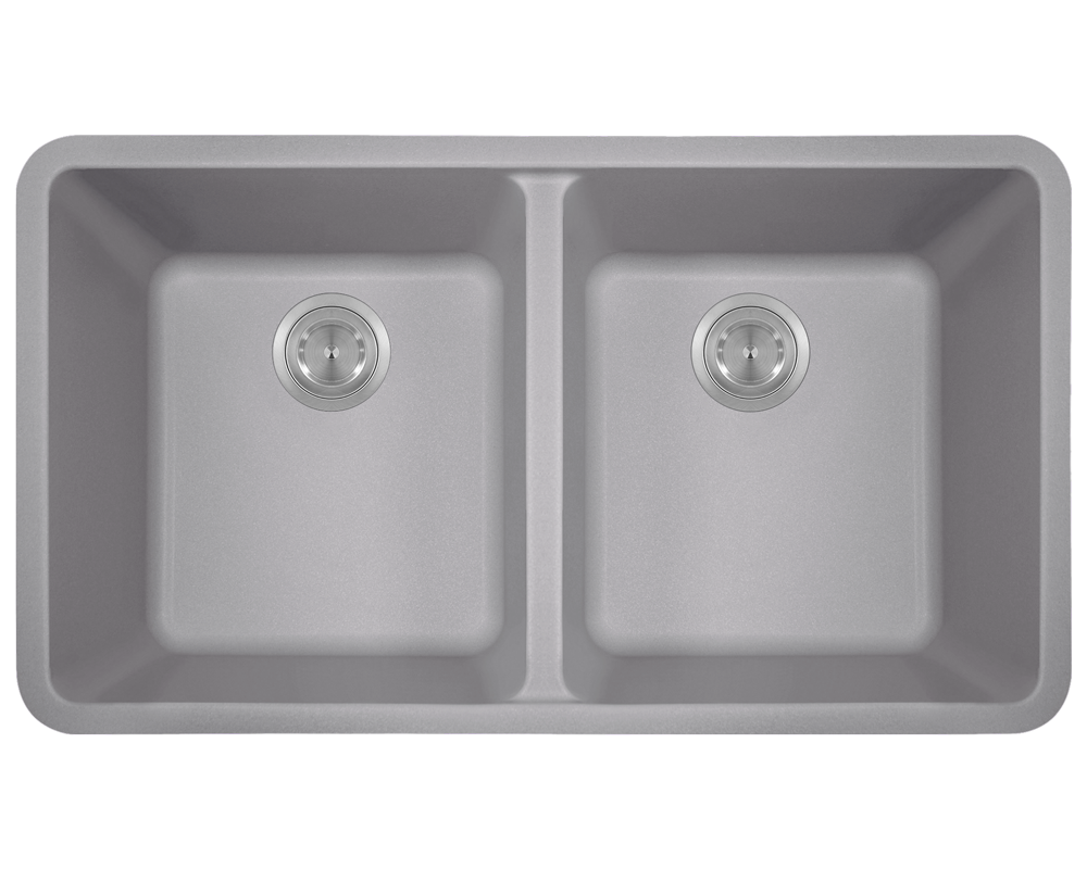 Picture of Kitchen Undermount Sink Double Equal Bowl AstraGranite