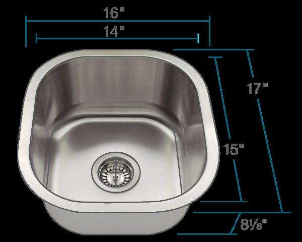 Picture of Kitchen Undermount Stainless Steel Sink
