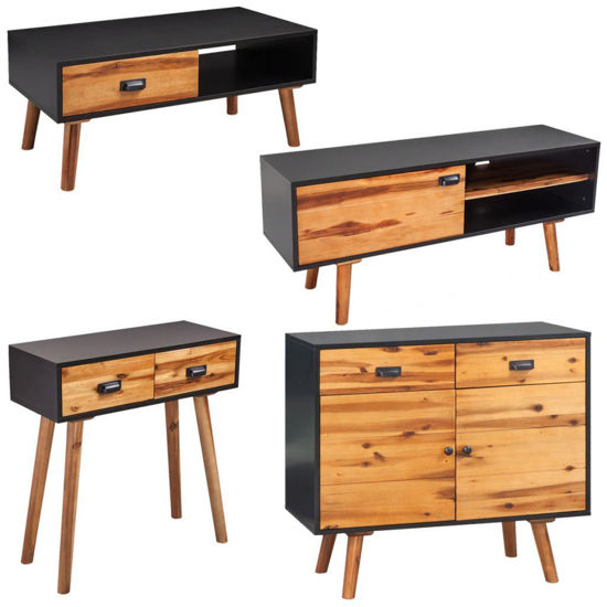 Picture of Living Room Furniture Set - 4pc Solid Acacia Wood