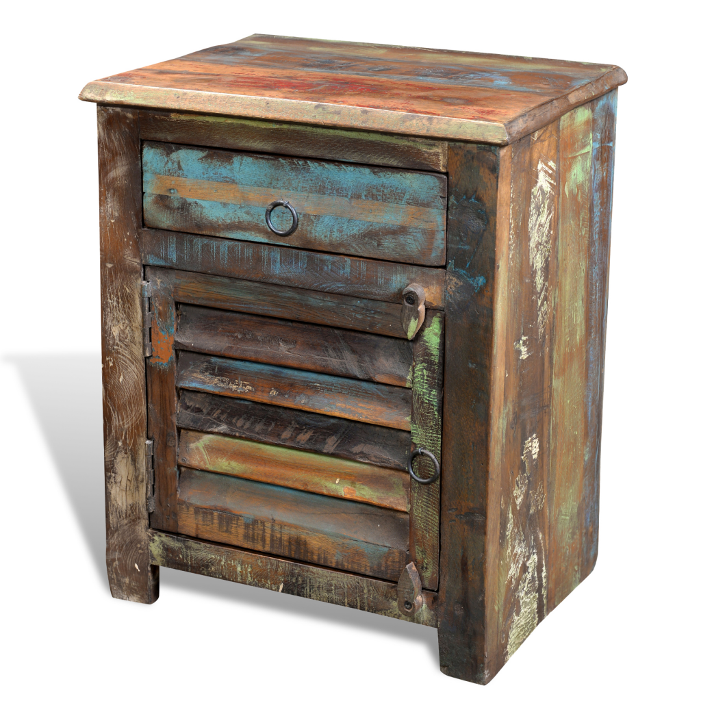 Picture of Living Room Multicolor Cabinet End Table 1 Drawer 1 Door - Reclaimed Wood