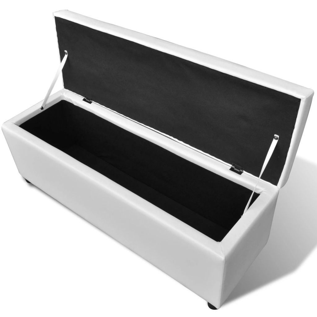 Picture of Long Storage Bench White