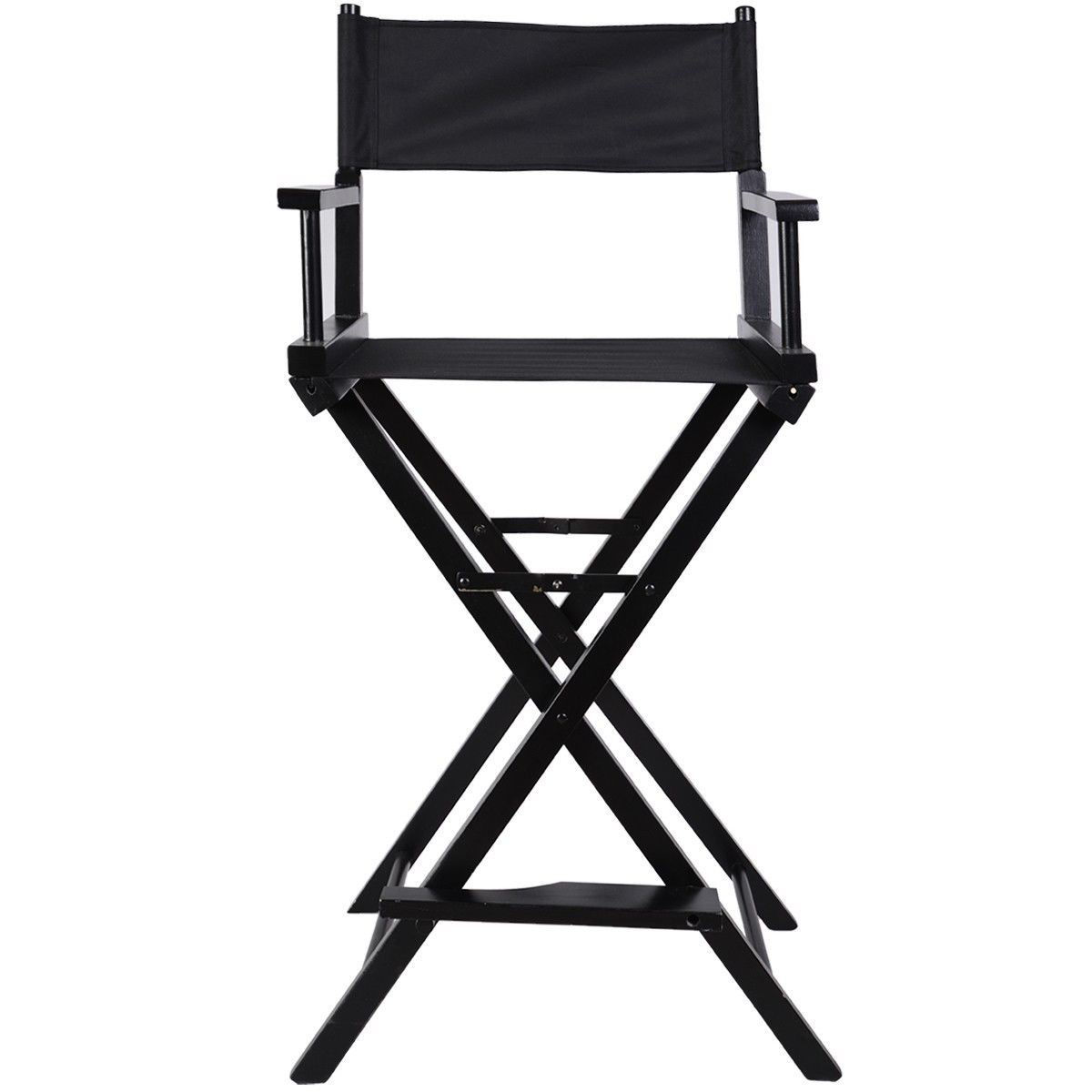 Picture of Makeup Chair Foldable Wood Professional Black