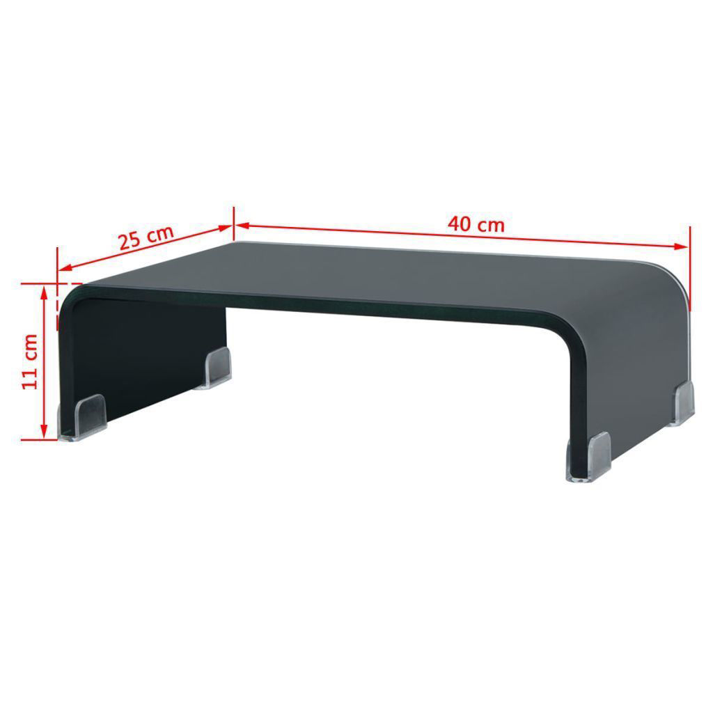 """Picture of Monitor Riser/TV Stand 15"""" - Glass Black"""