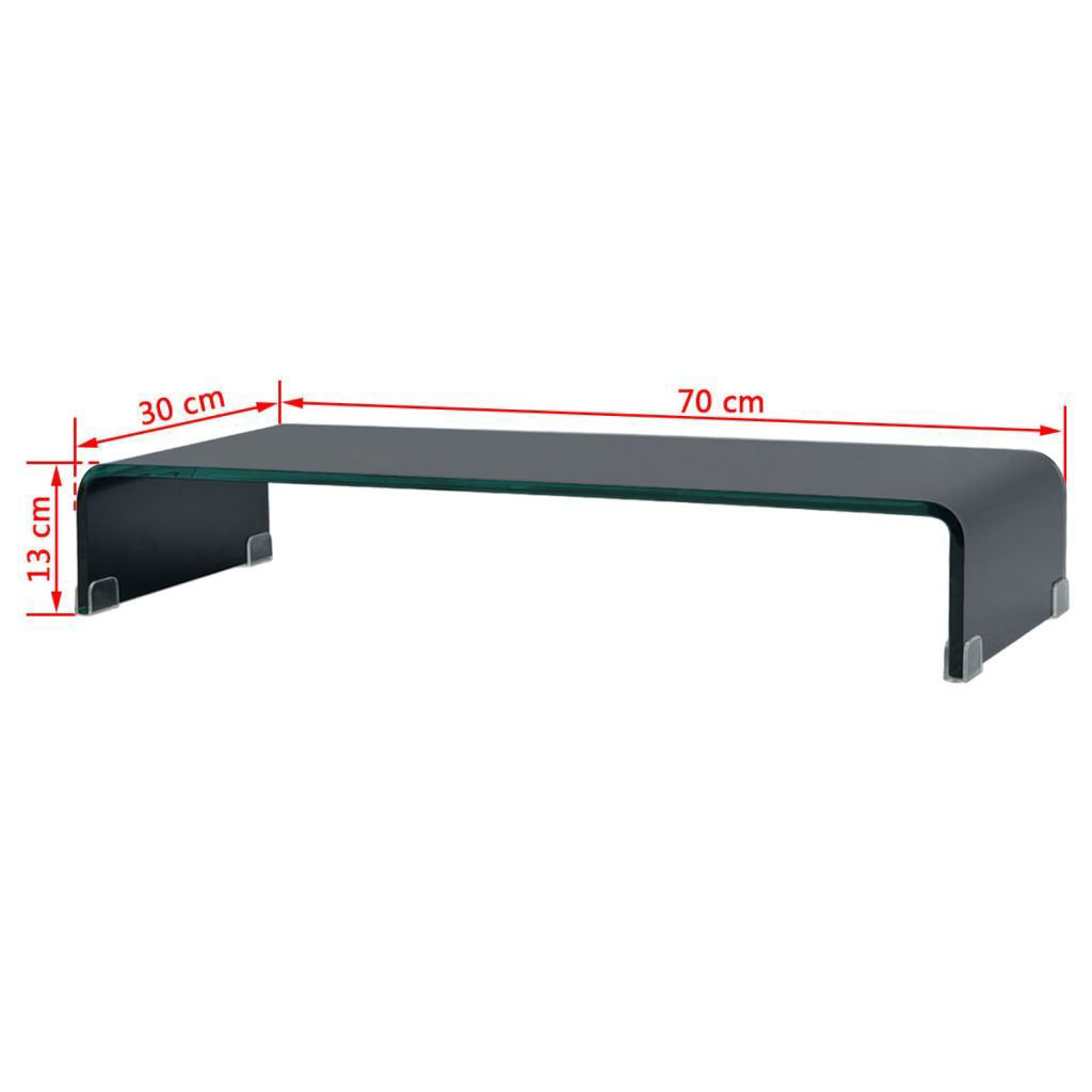 "Picture of Monitor Riser/TV Stand 27"" - Glass Black"