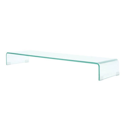 """Picture of Monitor Riser/TV Stand 39"""" - Glass Clear"""
