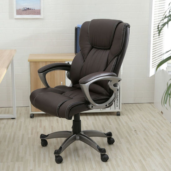 Picture of Office Chair High Back PU Leather - Brown