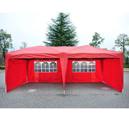 Picture of Outdoor 10' x 20' Easy Pop Up Canopy Tent - Red