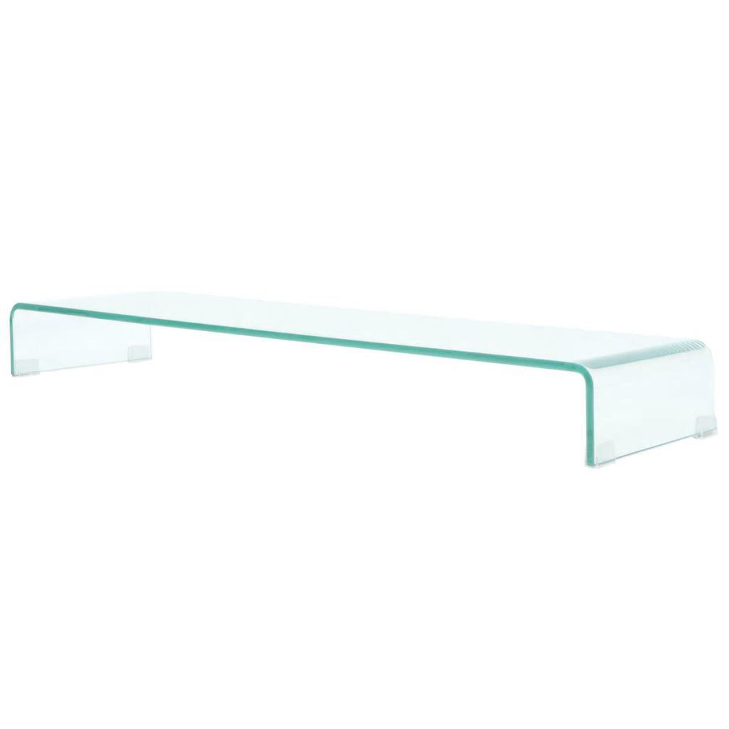 """Picture of Monitor Riser/TV Stand 43"""" - Glass Clear"""