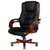 Picture of Office Chair High Back Real Leather - Black