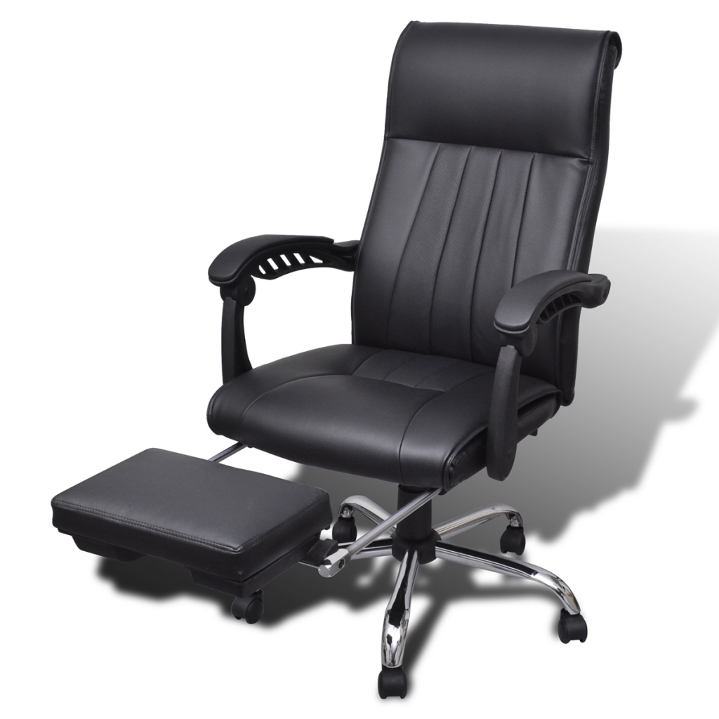 Picture of Office Chair with Adjustable Footrest - Black