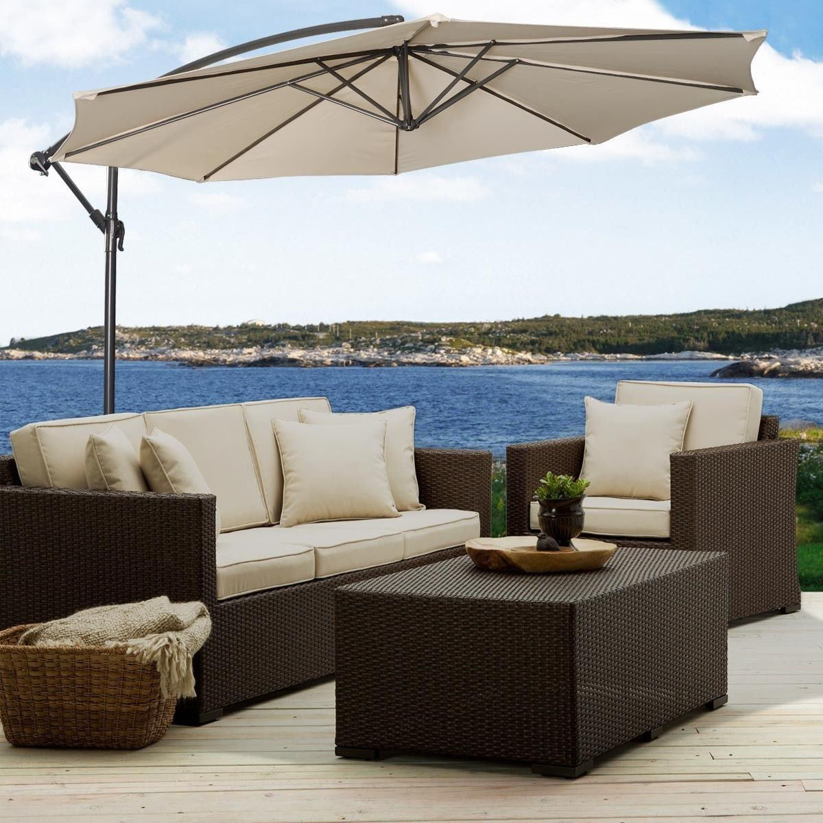 Picture of Outdoor 10' Patio Umbrella Patio With Cross Base