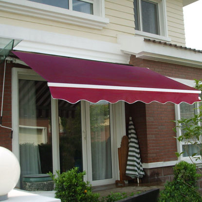 Picture of Outdoor Awning Sunshade Manual Patio Retractable 8.2' × 6.5'