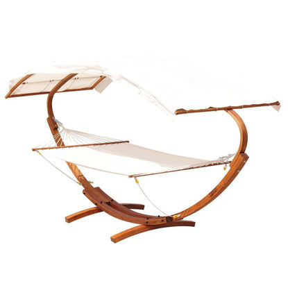 Picture of Outdoor 2-Person Hammock with Arch - Teak