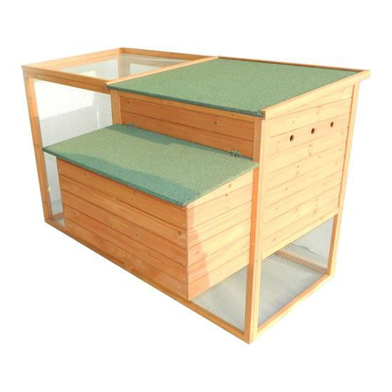 """Picture of Outdoor 64"""" Chicken Coop with Nesting Box and Run"""